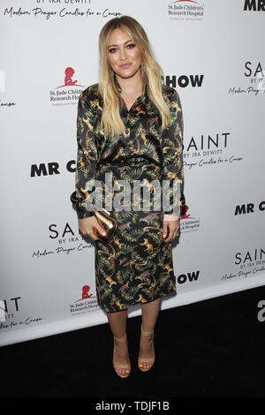 June 12, 2019 - Beverly Hills, CA, USA - LOS ANGELES - JUN 4:  Hilary Duff at the SAINT Modern Prayer Candles For A Cause Launch at the Mr. Chow on June 4, 2019 in Beverly Hills, CA (Credit Image: © Kay Blake/ZUMA Wire) - Stock Photo