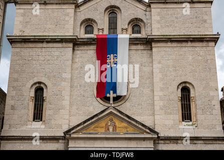 St Nicholas church in the Old Town of Kotor in Montenegro - Stock Photo