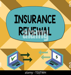 Text sign showing Insurance Renewal. Conceptual photo ...