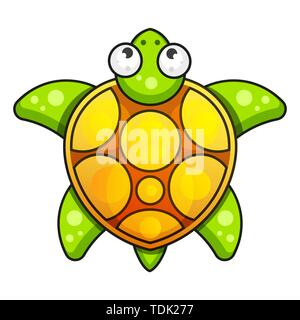 Sea Turtle Icon. Vector Illustration On White Background - Stock Photo