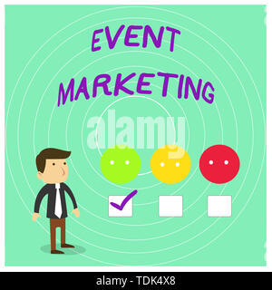Conceptual hand writing showing Event Marketing. Concept meaning describes process of developing display to promote product White Questionnaire Survey - Stock Photo