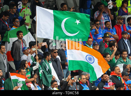 Manchester, UK. 16th June, 2019. A general view during the India v Pakistan, ICC Cricket World Cup match, at Old Trafford, Manchester, England. Credit: European Sports Photographic Agency/Alamy Live News - Stock Photo