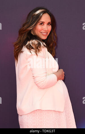 London, UK. 16th June, 2019. LONDON, UK. June 16, 2019: Myleene Klass arriving for the 'Toy Story 4' premiere at the Odeon Luxe, Leicester Square, London. Picture: Steve Vas/Featureflash Credit: Paul Smith/Alamy Live News - Stock Photo