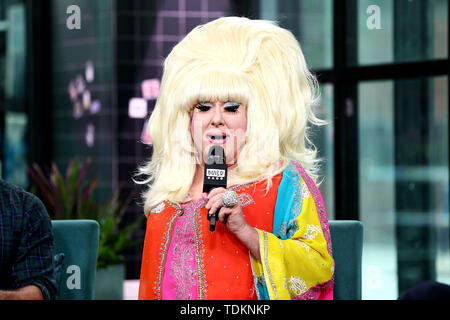 New York, USA. 17 June, 2019. Lady Bunny at the BUILD Speaker Series: Discussing the new HBO Documentary 'WIG' at BUILD Studio. Credit: Steve Mack/Alamy Live News - Stock Photo