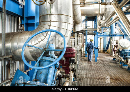 Colon, Panama. 31st Aug, 2011. A man seen working at the Bahia las Minas Thermal Power Plant, a coal-fired thermal power station in Colon. Credit: Ricardo Ribas/SOPA Images/ZUMA Wire/Alamy Live News - Stock Photo