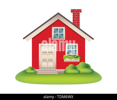 isolated home vector illustration - Stock Photo