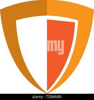 Shield logo template vector icon design - Stock Photo