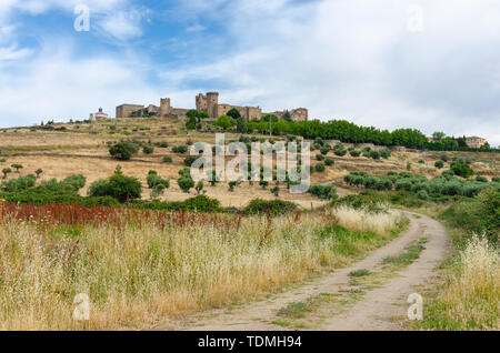 Oropesa castle in, Castilla la Mancha, Spain. - Stock Photo