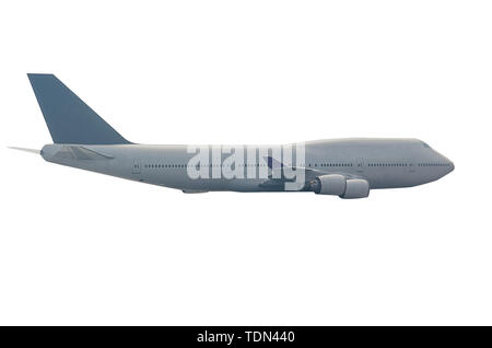 airplane isolated on the white background. - Stock Photo