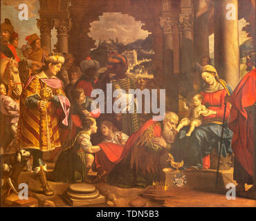 COMO, ITALY - MAY 8, 2015: The painting Adoration of the Magi in Duomo. - Stock Photo