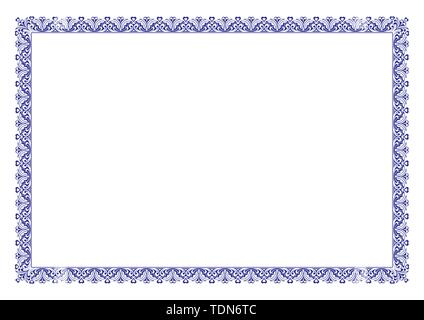 Blank Certificate Border Ready add Text - Stock Photo
