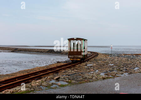 Coastal Railway, Nordstrand, Schleswig-Holstein, Germany - Stock Photo