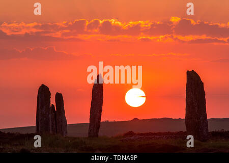 Ring of Brodgar, Orkney Island, Scotland, UK - Stock Photo