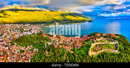 Samuels Fortress at Ohrid in North Macedonia - Stock Photo