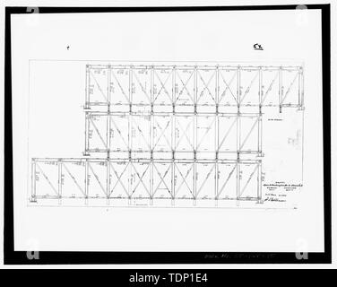 Photocopy of drawing, truss elevations, Bridge No. 79B, Main and Washington Sts., So. Norwalk, Ct., N. Y. Division, N.Y., N.H. and H.R.R., dated April 21, 1895. Original on file with Construction Management and Facilities Engineering Department, Metro North Commuter Railroad, 420 Lexington Avenue, New York, N.Y. - South Norwalk Railroad Bridge, South Main and Washington Streets, Norwalk, Fairfield County, CT - Stock Photo