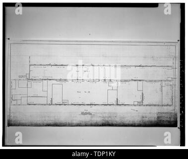 Photocopy of engineering drawing, Buildings 28 and 28A- Steam Heating System, 1918 (original on file with the Norfolk Naval Shipyard, Portsmouth, Virginia) - Norfolk Naval Shipyard, Building No. 28A, Adjoining Buildings No. 28 and 29 on Shubrick and Breeze Streets, Portsmouth, Portsmouth, VA - Stock Photo