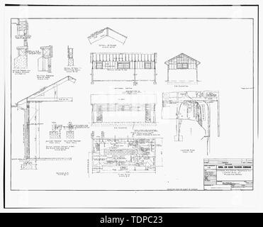 Photocopy of drawing (this photograph is an 8 x 10 copy of an 8 x 10 negative; 1916 architectural drawing located at NAS Pensacola, Florida, Building No. 458) LATRINE BUILDING NO. 67 PLANS AND DETAILS, SHEET 1 OF 1. - U.S. Naval Air Station, Public Restroom, South Avenue, Pensacola, Escambia County, FL - Stock Photo