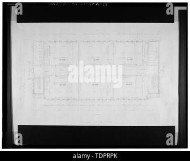 Photographic copy of reproduced original construction drawing. SECOND FLOOR PLAN - Beverly Vista School, Administration Building, 200 South Elm Drive, Beverly Hills, Los Angeles County, CA - Stock Photo