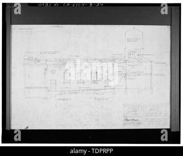 Photographic copy of reproduced original construction drawing. SOUTH ELEVATION - Beverly Vista School, Manual Arts and Classroom Building, 200 South Elm Drive, Beverly Hills, Los Angeles County, CA - Stock Photo