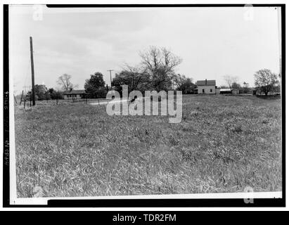 Photograph of photograph, circa 1971. Original print in Field Records. LOOKING NORTHEAST FROM PAGES CORNER. - Abbott-Page House, Mason Road, State Route 13 vicinity, Milan, Erie County, OH - Stock Photo