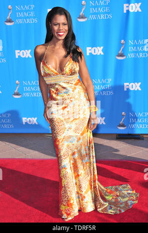 LOS ANGELES, CA. February 14, 2008: Omarosa at the 39th Annual NAACP Image Awards at the Shrine Auditorium. © 2008 Paul Smith / Featureflash - Stock Photo