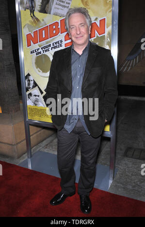 LOS ANGELES, CA. December 02, 2008: Alan Rickman at the Los Angeles premiere of his new movie Nobel Son at the Egyptian Theatre, Hollywood. © 2008 Paul Smith / Featureflash - Stock Photo