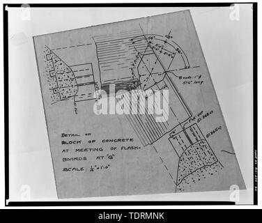 Photographic copy of ink on linen drawing (at the archives