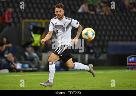 Marco RICHTER (GER), Action, Single Action, Frame, Cut Out, Full Body, Whole Figure. Germany (GER) -Daenemark (DEN) 3-1, on 17.06.2019 Stadio Friuli Udine. Football U-21, UEFA Under21 European Championship in Italy/SanMarino from 16.-30.06.2019. | Usage worldwide - Stock Photo
