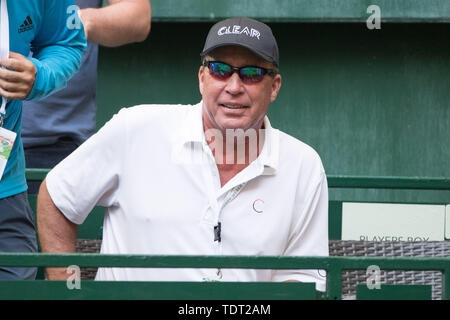 Ivan LENDL (coach, former professional tennis player) watches the game, bust, tennis, 27th NOVENTI Open 2019, ATP World Tour on 17.06.2019 in Halle (Westf.)/Germany. | Usage worldwide - Stock Photo