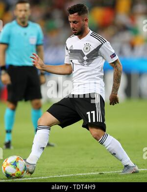 Udine, Italien. 17th June, 2019. firo: 17.06.2019, Fuvuball, International, UEFA European Under-21 Championship 2019, 1st group match Germany - Denmark, Marco Richter, Germany, Germany, DFB, GER, single action, | usage worldwide Credit: dpa/Alamy Live News - Stock Photo
