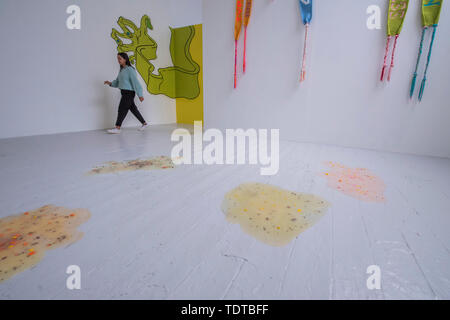 London, UK. 19th June, 2019. Works by Matilda Moors - RA Schools Show, exhibiting the new artistic talent graduating from the RA Schools. It opens today at the Royal Academy of Arts and runs until 30 June 2019. Credit: Guy Bell/Alamy Live News - Stock Photo
