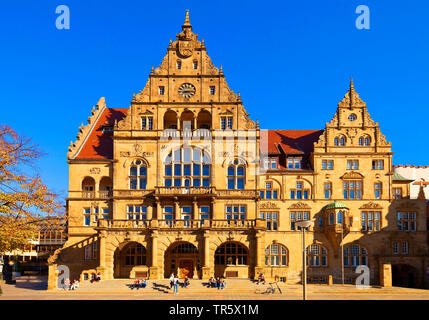 old town hall in Bielefeld, Germany, North Rhine-Westphalia, East Westphalia, Bielefeld - Stock Photo