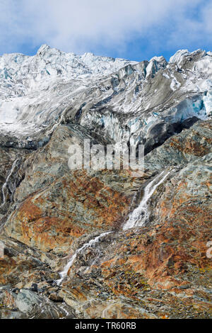Rhone Glacier near the Furka Pass, Switzerland, Valais, Oberwallis - Stock Photo