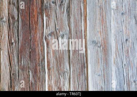 wooden wall, Switzerland, Valais - Stock Photo