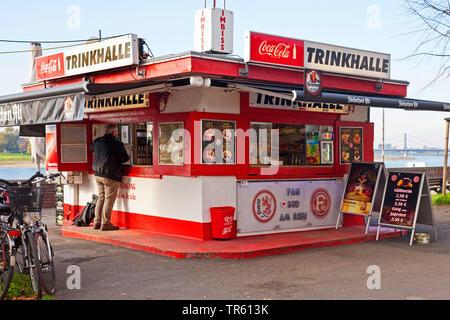 kiosk at the Rhine in Duesseldorf, Germany, North Rhine-Westphalia, Duesseldorf - Stock Photo