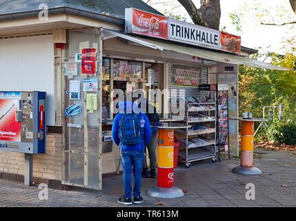 kiosk in Duesseldorf, Germany, North Rhine-Westphalia, Duesseldorf - Stock Photo