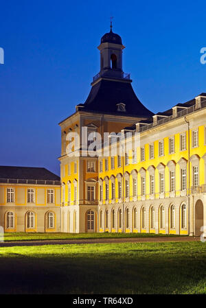 Electoral Palace, the main building of the University of Bonn in the evening, Germany, North Rhine-Westphalia, Bonn - Stock Photo