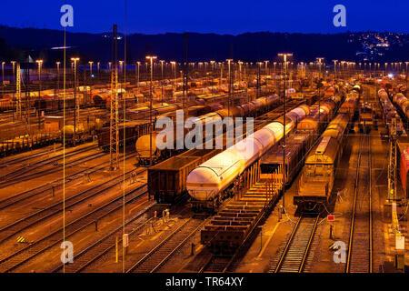train formation yard Vorhalle, Germany, North Rhine-Westphalia, Ruhr Area, Hagen - Stock Photo