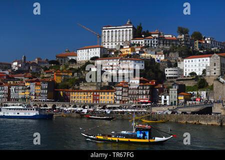 view over the river Douro to Porto, Portugal, Porto - Stock Photo