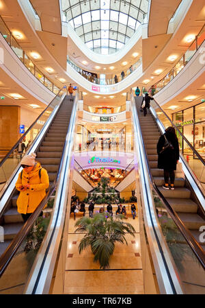 shopping mall City-Arkaden Wuppertal, Germany, North Rhine-Westphalia, Bergisches Land, Wuppertal - Stock Photo