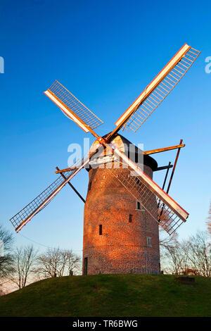 Geismuehle in Krefeld, Deutschland, Nordrhein-Westfalen, Niederrhein, Krefeld | mill Geis in Krefeld, Germany, North Rhine-Westphalia, Lower Rhine, Kr - Stock Photo