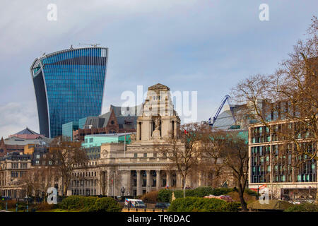 20 Fenchurch Street and Four Seasons Hotel in foreground, United Kingdom, England, London - Stock Photo