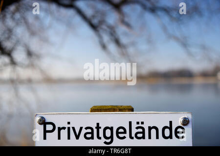 sign private property land, Germany - Stock Photo