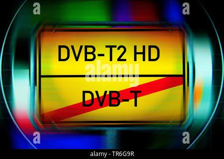 Umstellung von DVB T auf DVB T2 HD, Symbolfoto, Deutschland