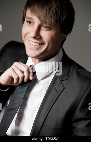young man in business look - Stock Photo