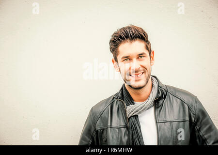 young attractive man, portrait, Germany - Stock Photo