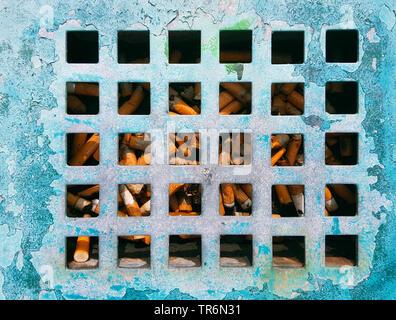 outdoor ashtray, Germany - Stock Photo