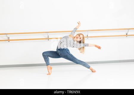 female ballet dancer in action, Germany - Stock Photo