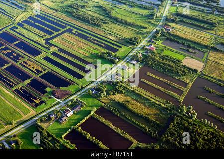 Rottige Meente, geflutete Felder, Luftbild, Niederlande, Friesland | Aerial photo of Rottige Meente, Netherlands, Frisia | BLWS494223.jpg [ (c) blickw - Stock Photo