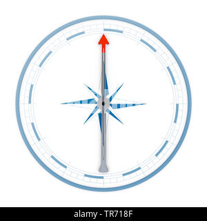 3D computer graphic, compass in weite without text arrow pointing up